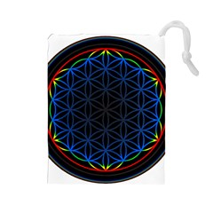 Flower Of Life Drawstring Pouches (Large)
