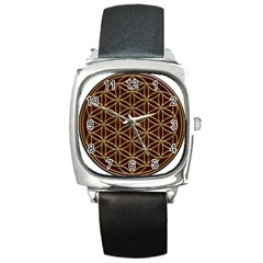 Flower Of Life Square Metal Watch