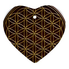 Flower Of Life Heart Ornament (Two Sides)