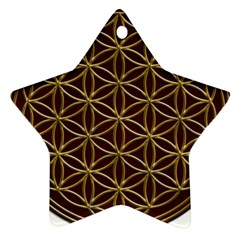 Flower Of Life Star Ornament (Two Sides)