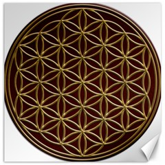 Flower Of Life Canvas 16  x 16