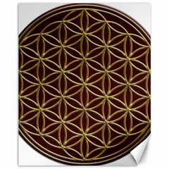 Flower Of Life Canvas 11  x 14