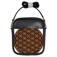 Flower Of Life Girls Sling Bags