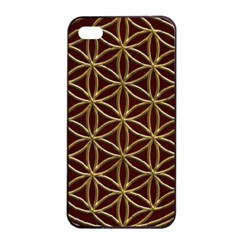 Flower Of Life Apple iPhone 4/4s Seamless Case (Black)