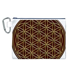 Flower Of Life Canvas Cosmetic Bag (L)