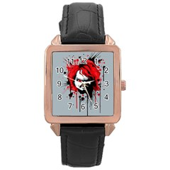 Good Guys Rose Gold Leather Watch