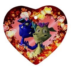 Ove Hearts Cute Valentine Dragon Ornament (Heart)