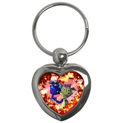Ove Hearts Cute Valentine Dragon Key Chains (Heart)
