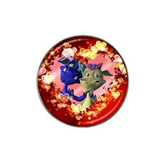 Ove Hearts Cute Valentine Dragon Hat Clip Ball Marker (10 pack)