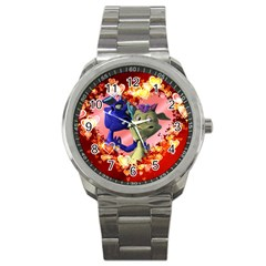Ove Hearts Cute Valentine Dragon Sport Metal Watch