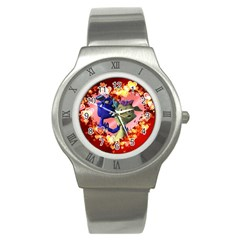 Ove Hearts Cute Valentine Dragon Stainless Steel Watch
