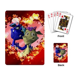 Ove Hearts Cute Valentine Dragon Playing Card