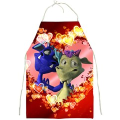 Ove Hearts Cute Valentine Dragon Full Print Aprons