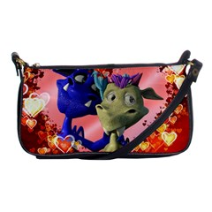 Ove Hearts Cute Valentine Dragon Shoulder Clutch Bags