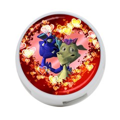 Ove Hearts Cute Valentine Dragon 4-Port USB Hub (Two Sides)