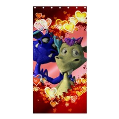 Ove Hearts Cute Valentine Dragon Shower Curtain 36  x 72  (Stall)