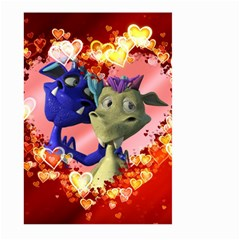Ove Hearts Cute Valentine Dragon Large Garden Flag (two Sides)