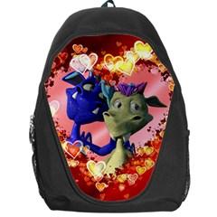 Ove Hearts Cute Valentine Dragon Backpack Bag