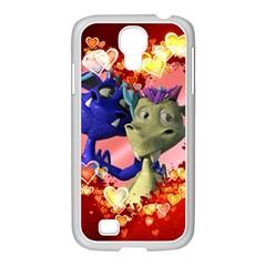 Ove Hearts Cute Valentine Dragon Samsung GALAXY S4 I9500/ I9505 Case (White)
