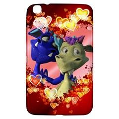Ove Hearts Cute Valentine Dragon Samsung Galaxy Tab 3 (8 ) T3100 Hardshell Case
