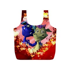 Ove Hearts Cute Valentine Dragon Full Print Recycle Bags (S)