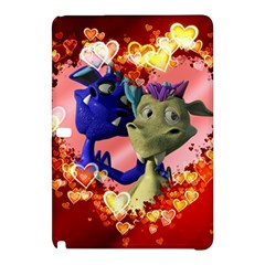 Ove Hearts Cute Valentine Dragon Samsung Galaxy Tab Pro 10.1 Hardshell Case