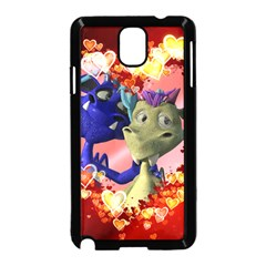 Ove Hearts Cute Valentine Dragon Samsung Galaxy Note 3 Neo Hardshell Case (Black)
