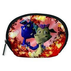 Ove Hearts Cute Valentine Dragon Accessory Pouches (medium)
