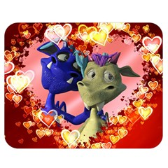 Ove Hearts Cute Valentine Dragon Double Sided Flano Blanket (medium)