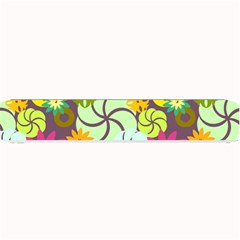 Floral Seamless Rose Sunflower Circle Red Pink Purple Yellow Small Bar Mats