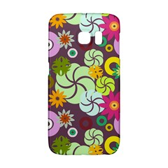 Floral Seamless Rose Sunflower Circle Red Pink Purple Yellow Galaxy S6 Edge