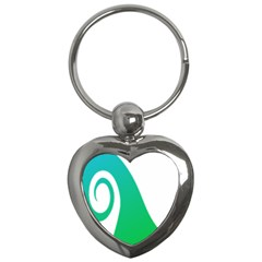 Line Green Wave Key Chains (Heart)