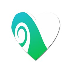 Line Green Wave Heart Magnet