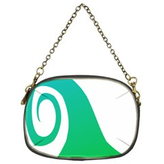 Line Green Wave Chain Purses (two Sides)