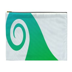 Line Green Wave Cosmetic Bag (XL)