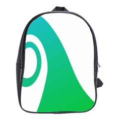 Line Green Wave School Bags(Large)
