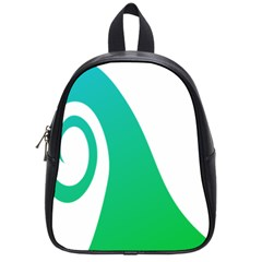 Line Green Wave School Bags (Small)