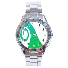 Line Green Wave Stainless Steel Analogue Watch