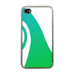 Line Green Wave Apple iPhone 4 Case (Clear)