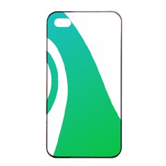 Line Green Wave Apple iPhone 4/4s Seamless Case (Black)