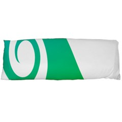 Line Green Wave Body Pillow Case (Dakimakura)