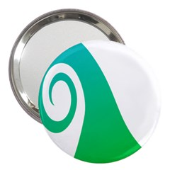 Line Green Wave 3  Handbag Mirrors