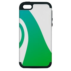 Line Green Wave Apple iPhone 5 Hardshell Case (PC+Silicone)