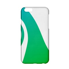 Line Green Wave Apple iPhone 6/6S Hardshell Case