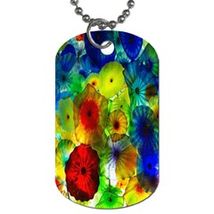 Green Jellyfish Yellow Pink Red Blue Rainbow Sea Dog Tag (One Side)
