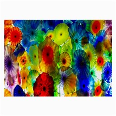 Green Jellyfish Yellow Pink Red Blue Rainbow Sea Large Glasses Cloth (2-Side)