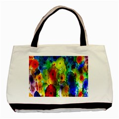 Green Jellyfish Yellow Pink Red Blue Rainbow Sea Basic Tote Bag (Two Sides)