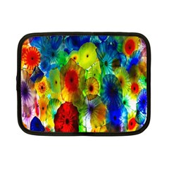 Green Jellyfish Yellow Pink Red Blue Rainbow Sea Netbook Case (Small)