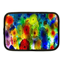 Green Jellyfish Yellow Pink Red Blue Rainbow Sea Netbook Case (Medium)