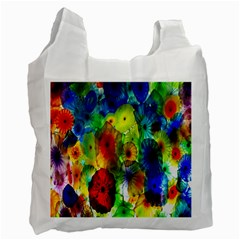 Green Jellyfish Yellow Pink Red Blue Rainbow Sea Recycle Bag (One Side)